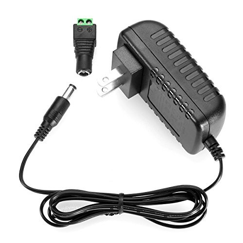 LE DC 12V 2A Power Supply Adapter, AC 100-240V to DC 12V Transformers, Switching Power Supply for 12V 3528/5050 LED Strip Lights, 24W Max, 12 Volt ...
