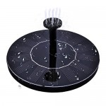Solar Bird Bath Fountain,maxin Free Standing 1.4W Solar Panel Kit Water Pump, Outdoor Watering Submersible Pump for Bird Bath,Fish Tank,Small Pond...