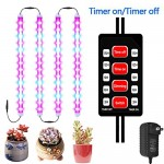 MG MULGORE Plant Grow Lights 28W LED Plant Light Bar Strip 4in1 Flexible Soft Plant Grow Lamp with Adapter for Garden Greenhouse Pot Culture Hydrop...