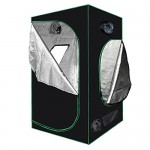 """Minerva 48"""" x 48"""" x 80"""" Mylar Hydroponic Grow Tent for Indoor Plant Growing Including Installation Instructions"""