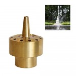 "NAVAdeal 1/2"" DN15 Brass Blossom Water Fountain Nozzle Spray Pond Sprinkler Head"