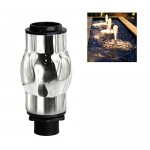 "NAVADEAL Display Frothy Foam Jet Fountain Nozzle - 1"" DN25 Stainless Steel Water Spray Sprinkler - For Garden Pond, Amusement Park, Museum, Library"