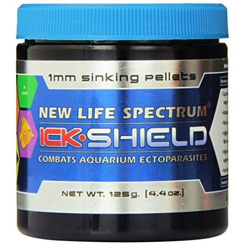 New Life Spectrum Ick Shield 1mm Sinking Pet Food, 125gm