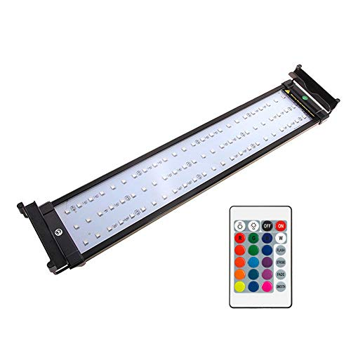 NICREW RGB LED Aquarium Light, Dimmable Fish Tank Light with Remote, Fits 20 to 27 Inches Fish Tank, 14 Watts