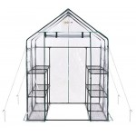 Ogrow Deluxe Walk-in 6 Tier 12 Shelf Portable Greenhouse