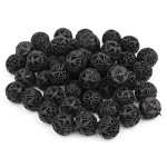 OKDEALS Bio Balls Aquarium Filter Pond Fish Tank Filtration Media Kits, 100 Pcs Black, 16mm
