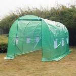 Outsunny 15' x6.7' x 6.7' Walk-in Dome Greenhouse Garden Plant Seed Green House Premium Steel Frame