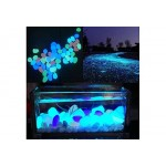 100 Pcs Colorful Glow in The Dark Pebbles Stones Rocks Fish Tank Aquarium Garden Walkway