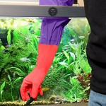 "1 pair Aquarium Water Change Gloves (20"") --- Keep hands & arms dry, contamination-free - Ensures regular Fish tank maintenance - Elastic forearm s..."