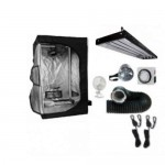 Grow Tent 2 ft x 4 ft x 5 ft Complete Kit with Light T5 High Output 4 Lamps 4 ft Long T-TekHydro