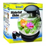 Tetra Aquarium Kit with Waterfall, 1.8 Gallon Globe Fish Tank, Include LED Lights