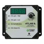Titan Controls Day/Night Carbon Dioxide (CO2) Monitor & Controller w/ Photocell, 120V - Atlas 3