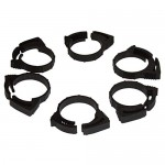 Two Little Fishies ATL5410W 6-Piece Plastic Hose Clamp Set, 3/4""