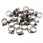 Adjustable 9mm-16mm Stainless Steel Worm Gear Hose Clamps 20 Pcs