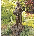 Decorative St. Francis with Animals Statue, Indoor Home Outdoor Yard and Garden Sculpture - 10.5 W x 22 H