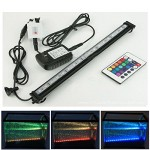 Xcellent Global Remote Color Changing 18 Inch 27 RGB LED Underwater Submersible Aquarium Fish Tank LED Lights 16 Colors 4 Color Changing Modes Air ...