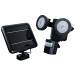 XEPA PSO1B Motion Activated Solar Powered LED Security Light, Black