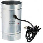 """Yescom 4"""" Inline Duct Booster Fan Aluminum Blade Hydroponics Grow Tent Cooling Ventilation Exhaust Air Blower"""
