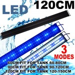Zeiger Eco Aquarium Hood Led Lighting Fish Lamp Freshwater and Saltwater decorations Light, White and Blue Adjustable 48'' - 60 (5730 LED 48 inch 3...